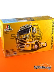 Italeri: Model truck kit 1/24 scale - Iveco Stralis 450 - plastic parts, rubber parts, water slide decals, other materials and assembly instructions image