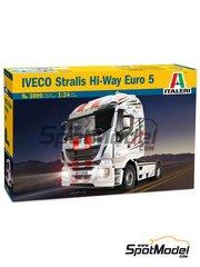 Italeri: Maqueta de camión escala 1/24 - Iveco Stralis 560 Hi-Way Euro 5 - maqueta de plástico