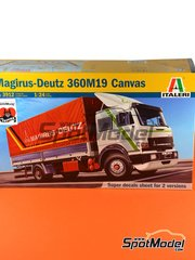 Italeri: Model truck kit 1/24 scale - Magirus-Deutz 360M19 Turbo - plastic parts, rubber parts, water slide decals and assembly instructions