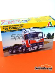 Italeri: Model truck kit 1/24 scale - Berliet 356ch / Renault R360 Le Centaure subir - plastic parts, water slide decals and assembly instructions