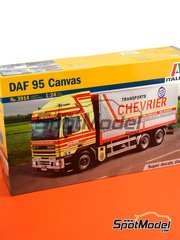 Italeri: Model truck kit 1/24 scale - DAF 95 Canvas - plastic parts, rubber parts, water slide decals and assembly instructions image