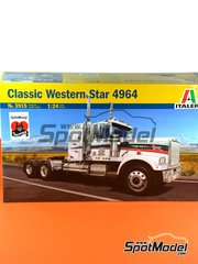 Italeri: Model truck kit 1/24 scale - Classic Western Star 4964 - plastic parts, rubber parts, water slide decals and assembly instructions