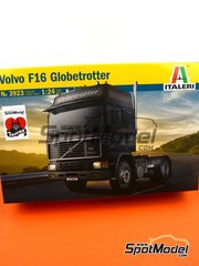 Italeri: Model truck kit 1/24 scale - Volvo FH 16 Globetrotter 4x2 - plastic parts, rubber parts, water slide decals and assembly instructions