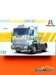 Italeri: Model truck kit 1/24 scale - Iveco Turbostar 190.48 Special - plastic parts, rubber parts, water slide decals and assembly instructions
