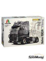 Italeri: Maqueta de camión escala 1/24 - Volvo FH16 - piezas de plástico, piezas de goma, manual de instrucciones e instrucciones de pintado