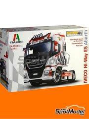 Italeri: Maqueta de camión escala 1/24 - Iveco Stralis 560 Hi-Way Euro 5 Abarth - maqueta de plástico