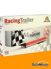 Italeri: Model truck kit 1/24 scale - Racing trailer - plastic parts, rubber parts, water slide decals, assembly instructions and painting instructions