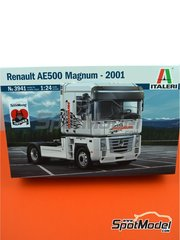 Italeri: Model truck kit 1/24 scale - Renault AE5000 Magnum - plastic parts, rubber parts, water slide decals, assembly instructions and painting instructions