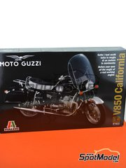 Italeri: Model bike kit 1/6 scale - Moto Guzzi V850 California - metal parts, plastic parts, rubber parts, turned metal parts, water slide decals and assembly instructions - for Tamiya kits TAM14117 and TAM14120 image