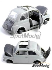 Italeri: Model car kit 1/12 scale - Fiat 500 F - photo-etched parts, plastic parts, rubber parts, water slide decals, assembly instructions and painting instructions image