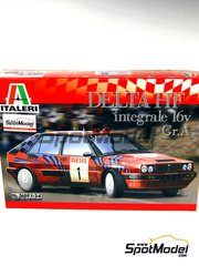 Italeri: Model car kit 1/24 scale - Lancia Delta HF Integrale 16v Group A Martini Racing #1 - Massimo 'Miki' Biasion (IT) + Tiziano Siviero (IT) - Sanremo Rally 1989