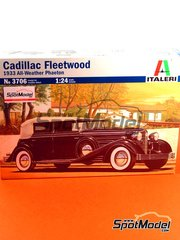 Italeri: Model car kit 1/24 scale - Cadillac Fleetwood 16 cylinder V type all Weather Phaeton 1933