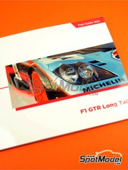 Komakai: Reference / walkaround book - McLaren F1 GTR Long Tail - for Aoshima reference AOSH-007471, or Fujimi references FJ12581 and FJ12595