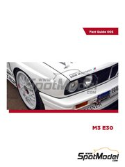 Komakai: Reference / walkaround book - BMW M3 E30 - DTM - for Beemax Model Kits references B24007 and Aoshima 098196