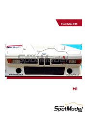 Komakai: Reference / walkaround book - BMW M1 - Nelson Piquet (BR) - for Revell references REV07247, 07247 and 80-7247