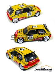MM24 Models: Model car kit 1/24 scale - Saxo S1600 RACC #65 - Daniel 'Dani' Solà (ES) + Alex Romaní (ES) - Catalunya Costa Dorada RACC Rally 2002 - resin multimaterial kit