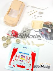 MM24 Models: Transkit 1/24 scale - Peugeot 206 S1600 Total #2 - Cédric Robert (FR) - Rally Du Var 2002 - resins, metal, photo-etched parts and decals - for Tamiya kit