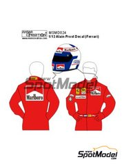 MSM Creation: Decals 1/12 scale - Alain Prost Figure Decal Ferrari