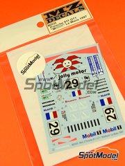 MZ Decals: Decals 1/27 scale - Porsche 911 GT1 Marlboro Mobil1 #29 - Jürgen von Gartzen (DE) + Olivier Thévenin (FR) + Alain Ferté (FR) - 24 Hours Le Mans 1997 - for Kyosho Mini Z