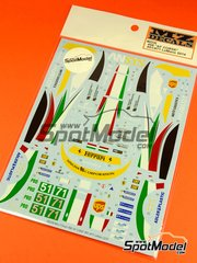 MZ Decals: Decals 1/27 scale - Ferrari 458 AF Corse Hublot #51, 71 - 24 Hours Le Mans 2014 - for Kyosho Mini Z