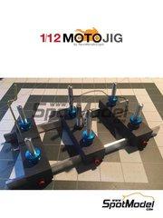 Marco Moto Design: Herramientas escala 1/12 - MotoJig 2017 Anodizado - piezas de metal y piezas de madera