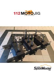 Marco Moto Design: Tools 1/12 scale - MotoJig 2017 Basic - metal parts and wooden parts