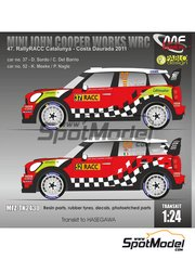 Mf-zone: Transkit 1/24 scale - Mini John Cooper Works WRC BP #37, 52 - Daniel 'Dani' Sordo (ES) + Carlos Pedro del Barrio (AR), Kris Meeke (GB) + Paul Nagle (IE) - Catalunya Costa Dorada Rally 2011 - resin parts, water slide decals and assembly instructions image