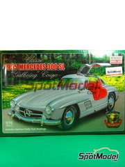 Minicraft Model Kits: Model car kit 1/16 scale - Mercedes 300 SL 1955 - plastic kit