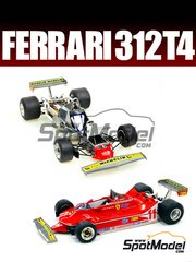 Model Factory Hiro: Model car kit 1/20 scale - Ferrari 312T4 Fiat #11, 12 - Jody Scheckter (ZA), Jacques Villeneuve (CA) - German Grand Prix, Belgian Grand Prix, Spanish Grand Prix 1979 - Hybrid Injection Kit: Plastic, Photo-etchs, White Metal