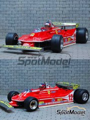 Model Factory Hiro: Model car kit 1/20 scale - Ferrari 312T4 Fiat #11, 12 - Jody Scheckter (ZA), Jacques Villeneuve (CA) - Monaco Formula 1 Grand Prix 1979 - Hybrid Injection Kit: Plastic, Photo-etch, White Metal and …