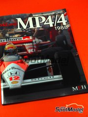 Model Factory Hiro: Libro - JOE HONDA Racing Pictorial Series - McLaren MP4/4 1986