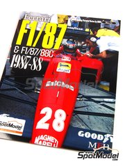 Model Factory Hiro: Reference / walkaround book - JOE HONDA Racing Pictorial Series -Ferrari F1 87/88c