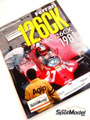 Model Factory Hiro: Reference / walkaround book - JOE HONDA Racing Pictorial Series - Ferrari 126CK & 126CX - FIA Formula 1 World Championship