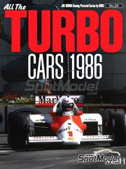 Model Factory Hiro: Reference / walkaround book - JOE HONDA Racing Pictorial Series - All The TURBO CARS 1986
