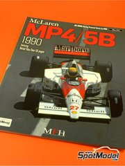 Model Factory Hiro: Libro de referencia - JOE HONDA Racing Pictorial Series - MP4/5B - Campeonato del Mundo de Formula 1 1990