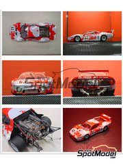 Model Factory Hiro: Model car kit 1/24 scale - Ferrari 512 BB 3M #62, 63 - 24 Hours Le Mans 1979