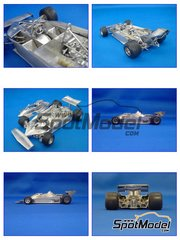Model Factory Hiro: Model car kit 1/24 scale - Ferrari 312T3 Early type Fiat - World Championship 1978