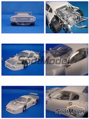 Model Factory Hiro: Model car kit 1/24 scale - Ferrari 512BB LM European University #76, 77 - 24 Hours Le Mans 1980