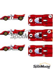 Model Factory Hiro: Model car kit 1/24 scale - Ferrari 512 S Short Tail ver. B #2, 6, 56 - Targa Florio 1970