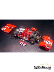 Model Factory Hiro: Model car kit 1/24 scale - Ferrari 512 S Short Tail #14, 23 - 24 Hours Le Mans 1971