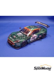 Model Factory Hiro: Model car kit 1/24 scale - Aston Martin DBR9 Gulf #007, 009 - 24 Hours Le Mans 2006