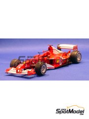Model Factory Hiro: Model car kit 1/20 scale - Ferrari F2003-GA Marlboro #1, 2 - Michael Schumacher (DE), Rubens Barrichello (BR) - Monaco Grand Prix 2003