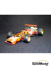 Model Factory Hiro: Model car kit 1/20 scale - Ferrari 312F1 - World Championship 1968