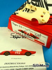 Model Factory Hiro: Model car kit 1/24 scale - Alfa Romeo Tipo 33 #192, 170, 200 - Targa Florio 1967