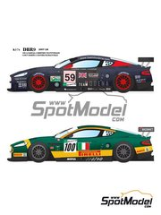Model Factory Hiro: Model car kit 1/24 scale - Aston Martin DBR9 Team Modena - Scuderia Italia #59, 100 - 24 Hours Le Mans 2007 - photo-etched parts, resin parts, rubber parts, vacuum formed parts, water slide decals and assembly instructions