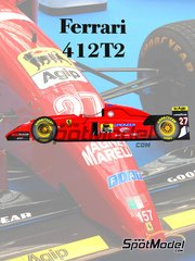 Model Factory Hiro: Model car kit 1/20 scale - Ferrari 412T2 Marlboro #27, 28 - Jean Alesi (FR), Gerhard Berger (AT) - Canadian Grand Prix 1994