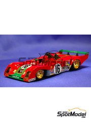 Model Factory Hiro: Model car kit 1/24 scale - Ferrari 312PB #15, 16, 17 - 24 Hours Le Mans 1973
