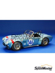 Model Factory Hiro: Model car kit 1/24 scale - 289 Cobra  - Targa Florio 1964