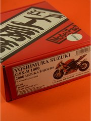 Model Factory Hiro: Model bike kit 1/12 scale - Yoshimura Suzuki GSX-R 1000 Iridium power #12 - 8 Hours Suzuka Endurance Race 2008 - metal and resin kit image