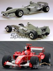 Model Factory Hiro: Model car kit 1/20 scale - Ferrari F2005 Marlboro #1, 2 - Michael Schumacher (DE), Rubens Barrichello (BR) - Japan Grand Prix 2005